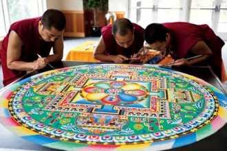Тибетская мандала — медитация монахов