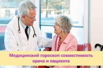 Медицинский гороскоп совместимость врача и пациента 2021