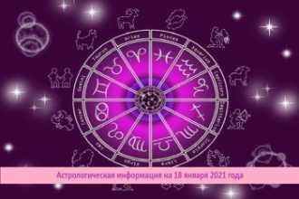 Астрологическая информация на 18 января 2021 года