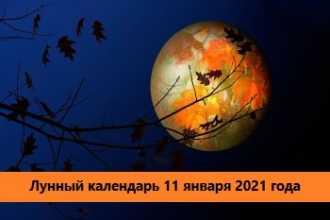 Лунный календарь — 11 января 2021 года