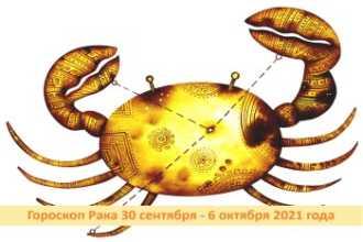Гороскоп Рака 30 сентября — 6 октября 2021 года