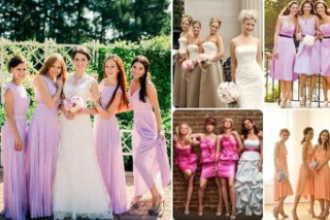 Какого цвета должны быть платья у подружек невесты на вашей свадьбе?